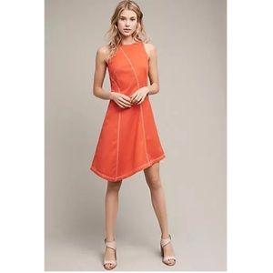 Anthropologie Maeve Orange Sleeveless Dress Sz 10